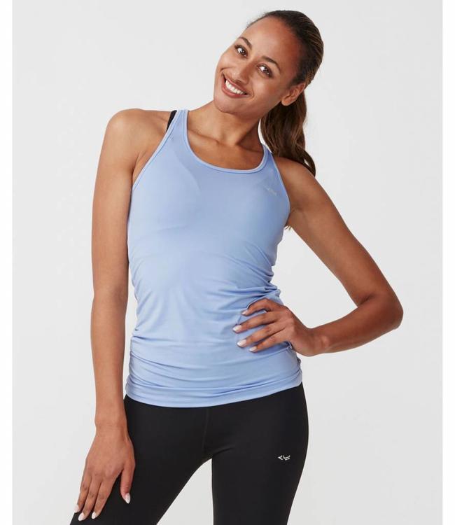 Rohnisch Yoga Top Long Racerback - Light Blue