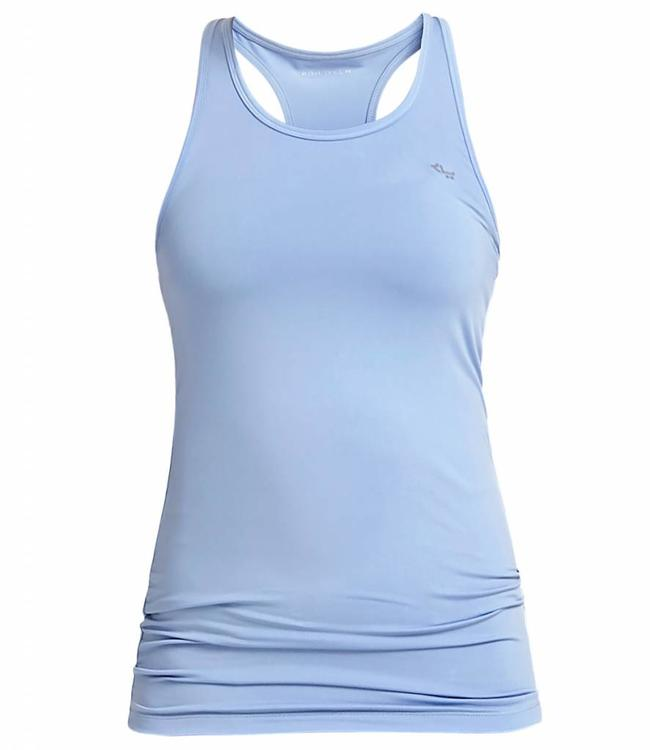 Rohnisch Yoga Top Long Racerback - Light Blue