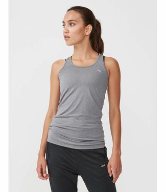 Rohnisch Yoga Top Long Racerback - Grey Melange
