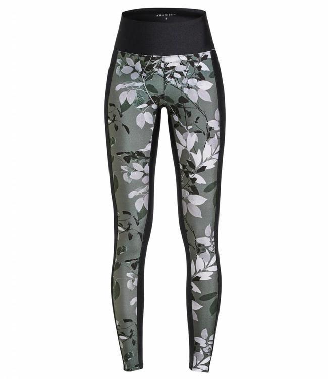 Rohnisch Yoga Legging Combat - Green Leaves