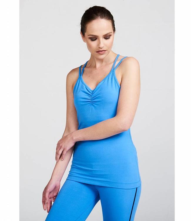 Asquith Yoga Top Conquer Cami - Blue Splash