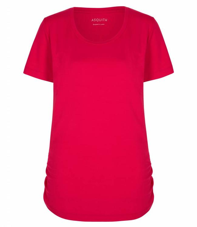 Asquith Yoga Shirt Bend It Tee – Sunset Pink