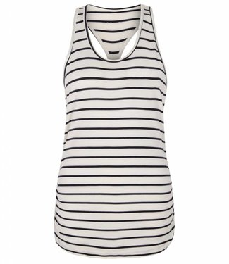 Asquith Yoga Top Chi Racerback Stripe - Navy/Ivory