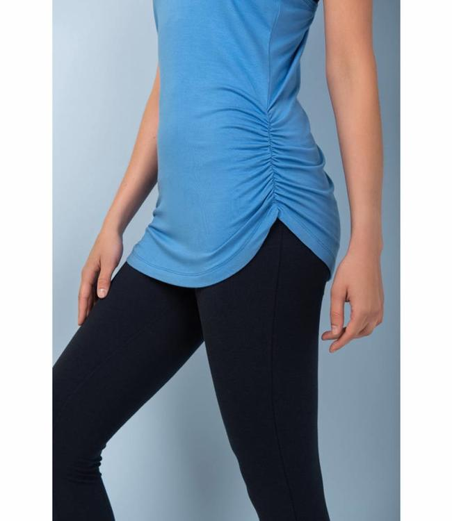 Asquith Yoga Top Chi Racerback - Blue Splash