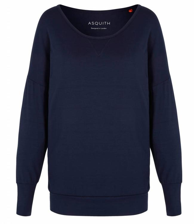 Asquith Yoga Shirt Batwing - Navy