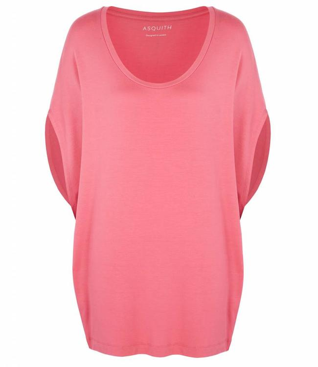 Asquith Yoga Shirt Scoop Batwing - Flamingo