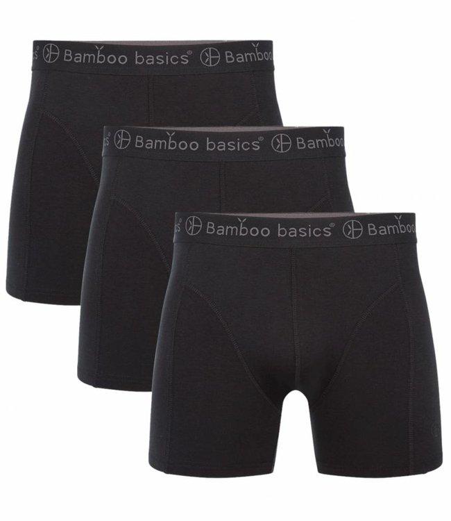 Bamboo Basics Bamboe Boxershorts Rico (3-pack) - Zwart
