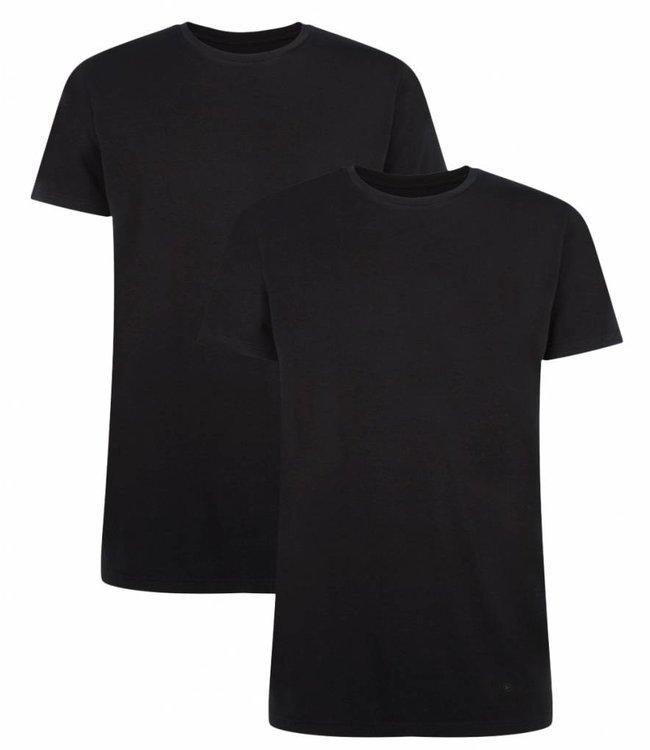 Bamboo Basics Bamboe Shirt Heren Ruben (2-pack) - Zwart