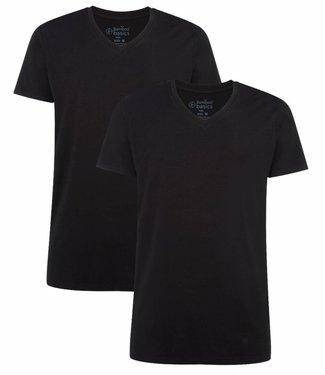 Bamboo Basics Bamboe Shirt Heren Velo (2-pack) - Zwart
