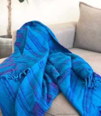 YogaStyles Meditatie Deken Turquoise/Paars/Roze