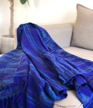 YogaStyles Meditatie Deken Blauw/Turquoise/Bruin