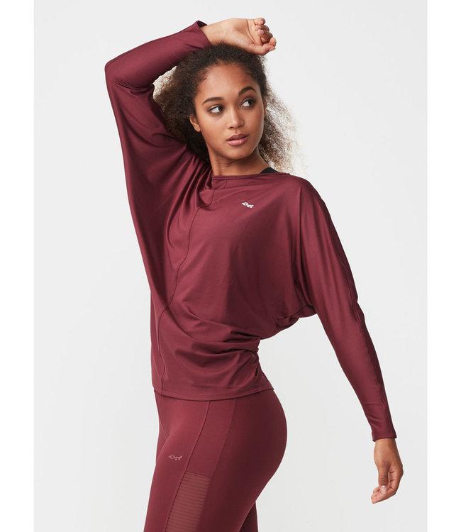 Rohnisch Yoga Shirt Drape - Burgundy