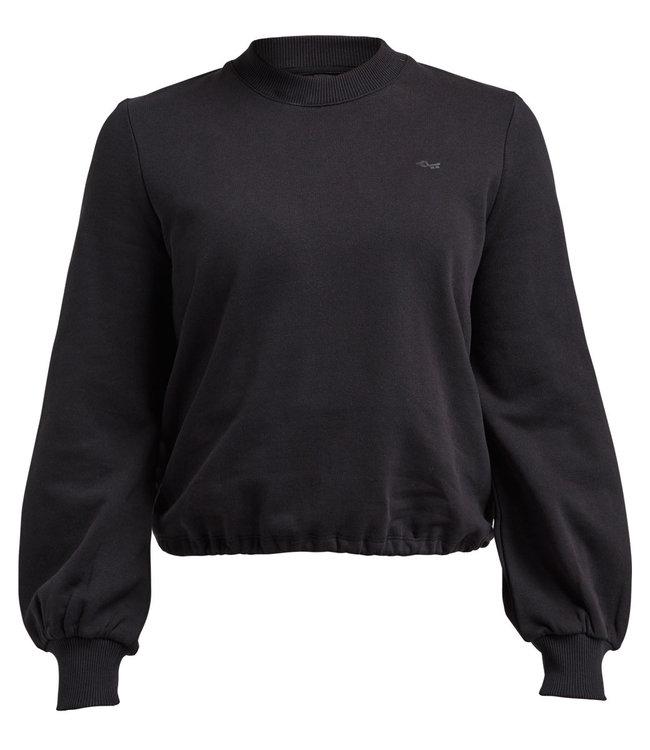 Rohnisch Yoga Sweater Comfy Cropped - Black