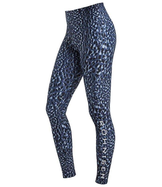 Rohnisch Yoga Legging Flattering - Dusty Blue Spot