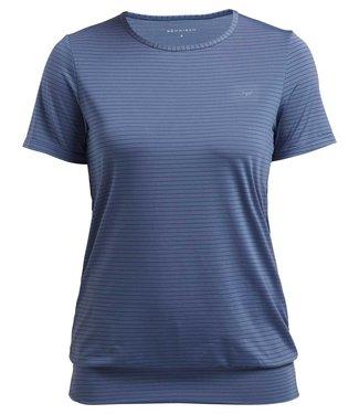 Rohnisch Yoga Shirt Stripe Puff - Dusty Blue
