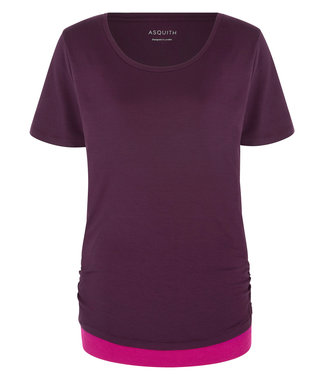 Asquith Yoga Shirt Bend It - Berry/Fuchsia