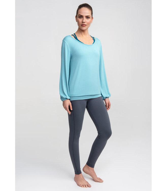 Asquith Yoga Long Sleeve Smooth You - Aqua