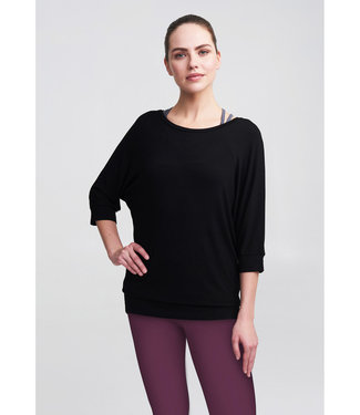 Asquith Yoga Shirt Be Grace Batwing - Black - Alleen Maat XS