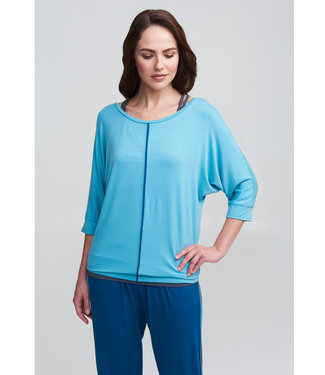 Asquith Yoga Shirt Be Grace Batwing - Aqua/Teal