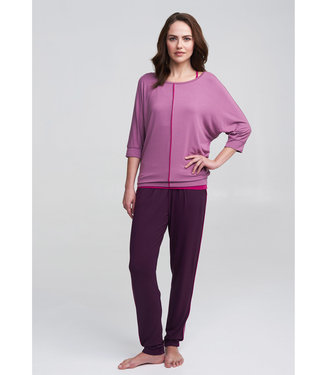 Asquith Yoga Shirt Be Grace Batwing - Heather/Fuchsia