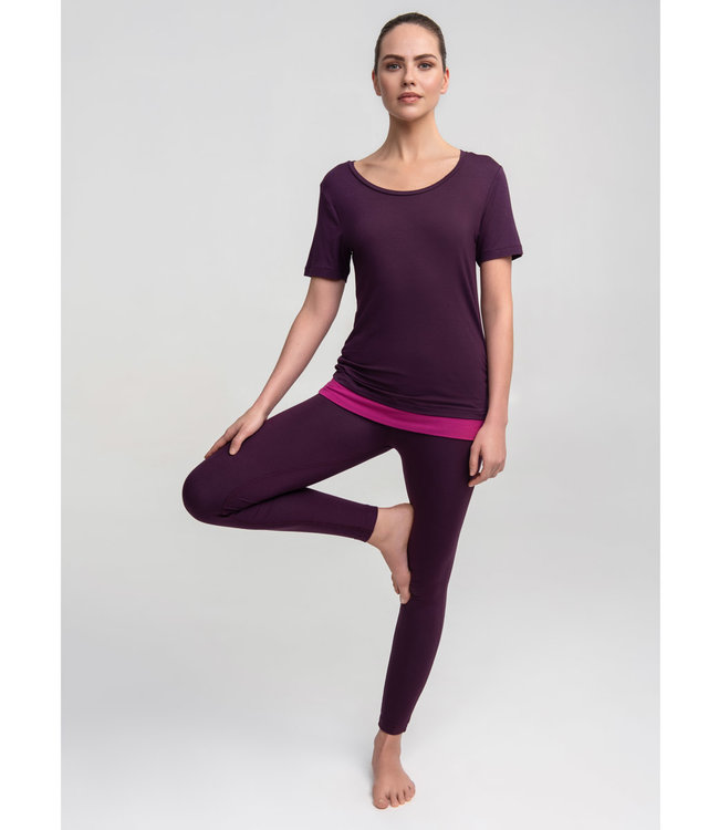 Asquith Yoga Shirt Bend It - Berry/Fuchsia