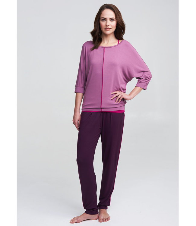 Asquith Yoga Broek Divine - Berry/Heather/Fuchsia