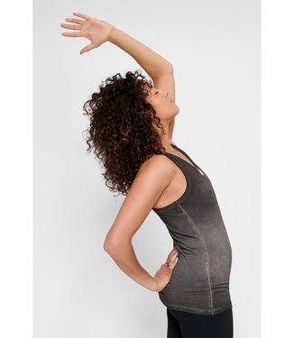 Urban Goddess Yoga Tank Top OM - Off Black
