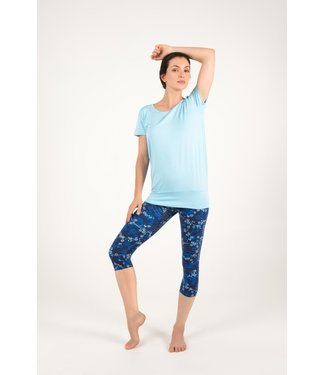 Asquith Yoga Capri Legging Karma - Japanese Floral