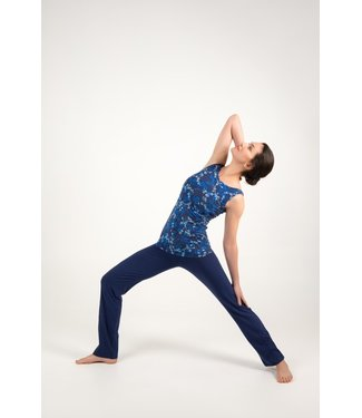 Asquith Yoga Top Live Fast Boatneck - Japanese Floral