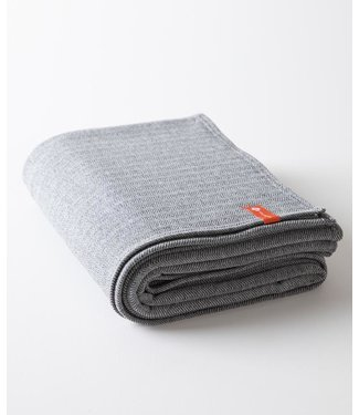 Half Moon Plush Cotton Yoga Deken - Charcoal Herringbone