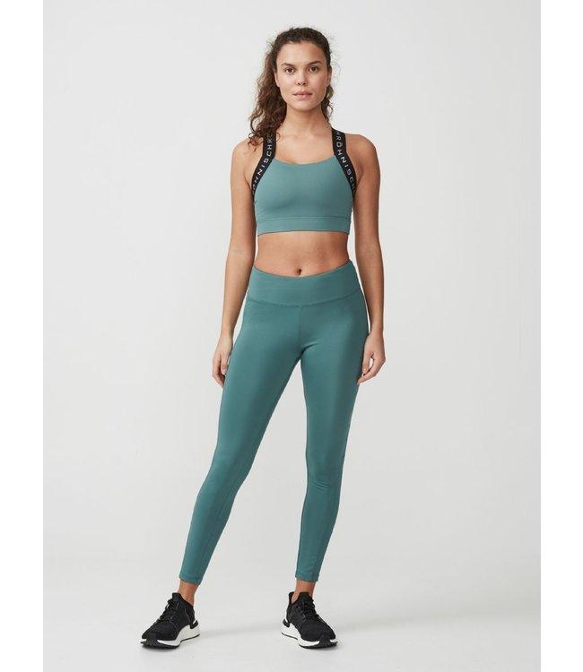 Rohnisch Yoga Legging Uplift Logo - Sea Green