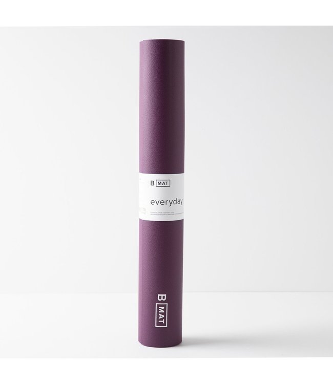B Yoga Yoga Mat Everyday - Deep Purple 4 mm