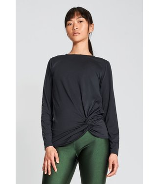 Rohnisch Yoga Sweater Comfy Cropped Black