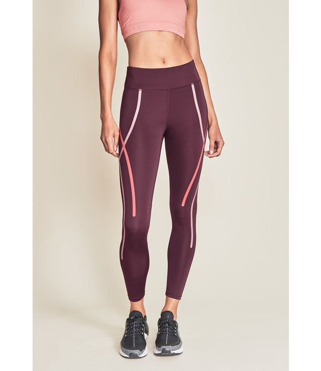 Rohnisch Legging Uplift Stripe - Dark Wine
