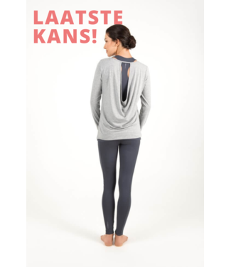 Asquith Yoga Shirt Open Back - Pale Grey