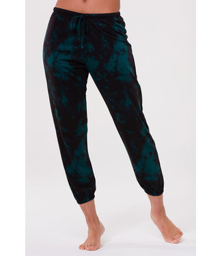 Onzie Fleece Sweatpant - Emerald Tie Dye