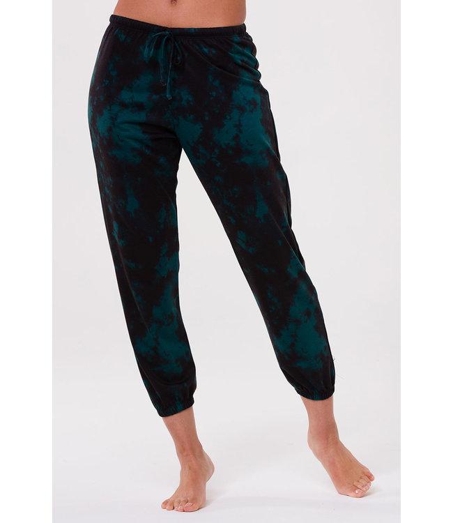 Onzie Fleece Sweatpant - Emerald Tie Dye