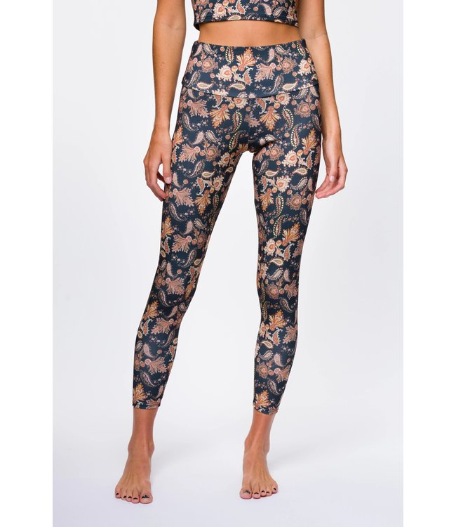 Onzie Sustainable Soul High Rise Midi Legging - Golden Paisley