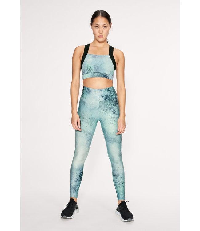 Rohnisch Flattering Keira Printed Legging - Green Space Dyed