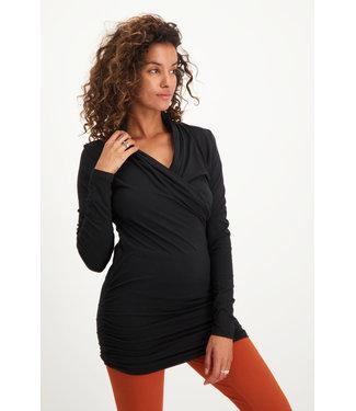 Urban Goddess Good Karma Longsleeve Tunic - Urban Black