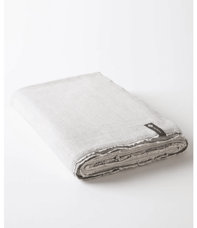 Halfmoon Cotton Yoga Blanket - Stone Weave