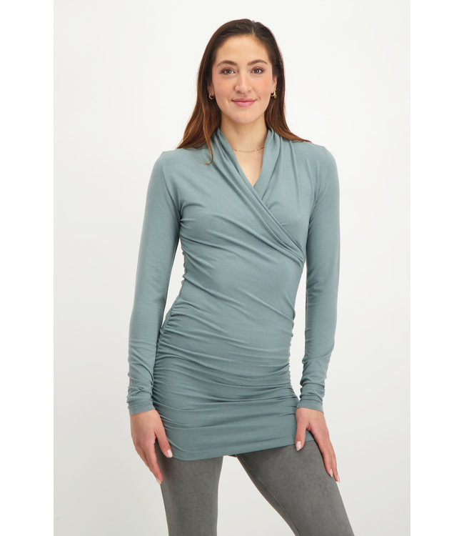 Urban Goddess Good Karma Longsleeve Tunic - Jade