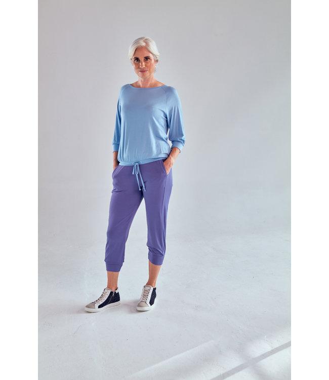 Asquith Crop Yoga  Pants - Azure