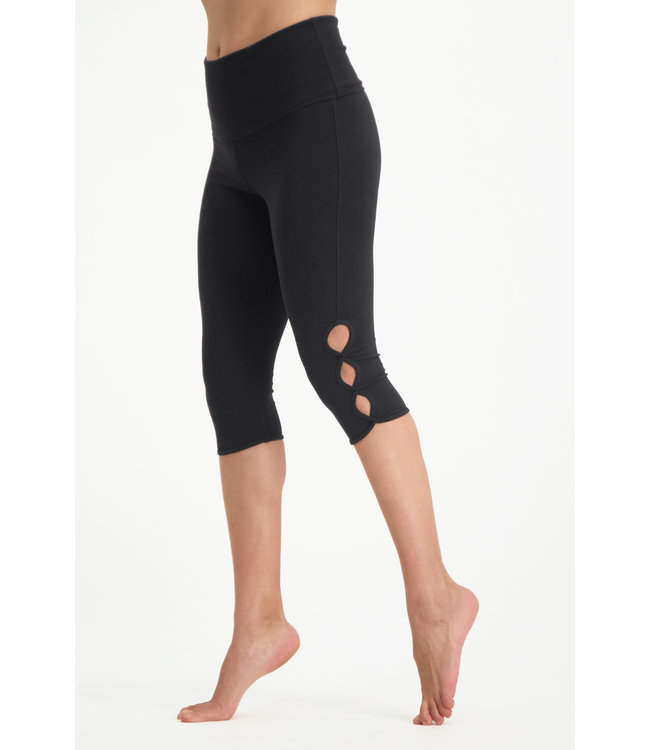 Urban Goddess Yoga Legging Shanti Capri - Urban Black