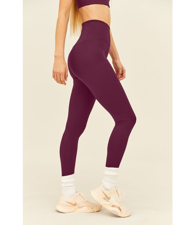 Girlfriend Collective Compressive High-Rise Yoga Legging - Plum