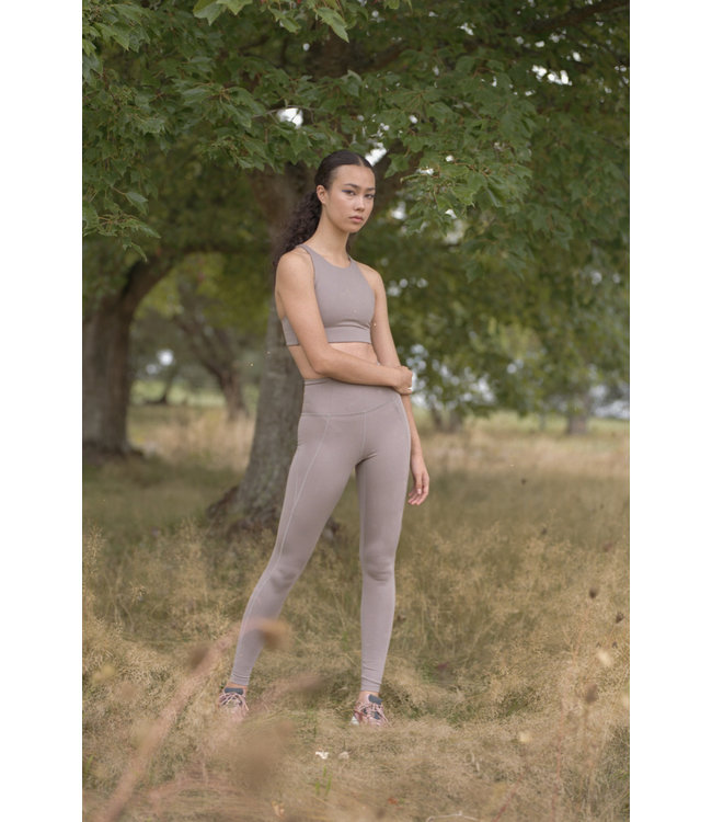Girlfriend Collective Compressive High-Rise Yoga Legging - Limestone