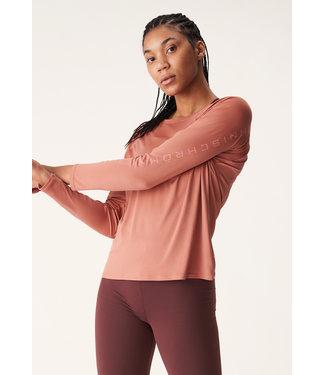 Rohnisch Active Logo Long Sleeve - Copper Brown