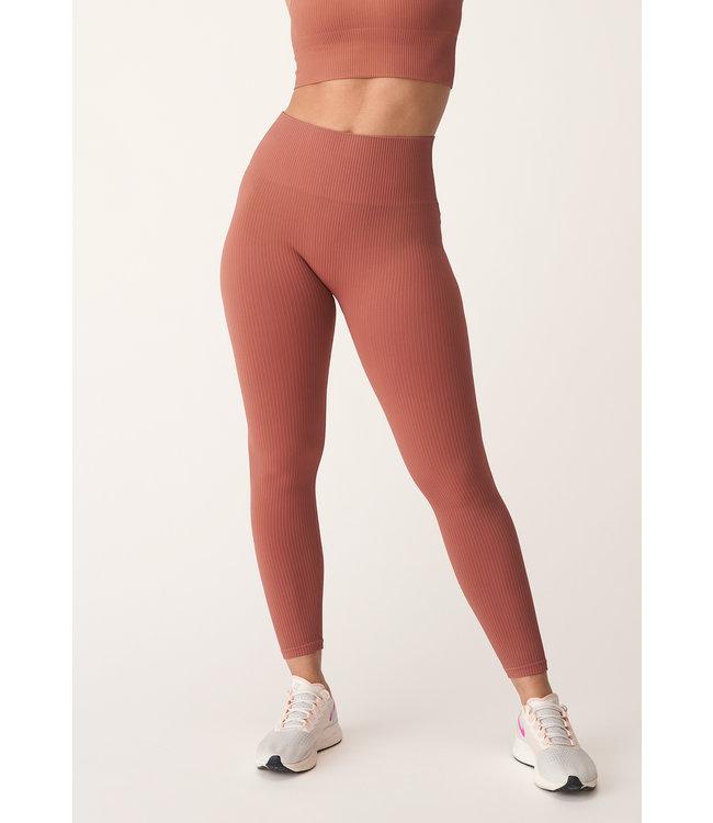 Rohnisch Seamless Yoga Rib Legging - Copper Brown