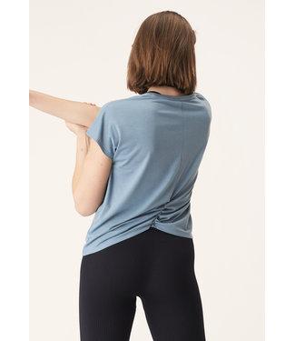 Rohnisch Split Back Yoga Shirt - Citadel