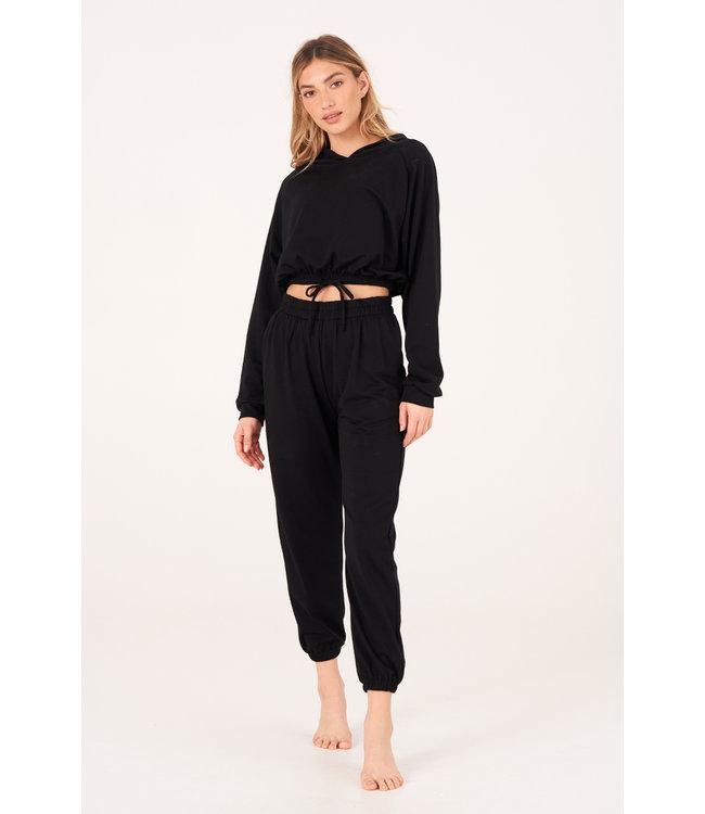 Onzie Varsity Yoga Sweatpants - Zwart Fleece
